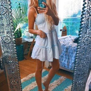 Dresses & Skirts - Preppy Pale Blue Dainty Dress